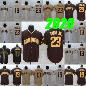 23 Fernando Tatis Jr. 13 Manny Machado 19 Tony Gwynn 2020 Saison Doppelt genäht Baseball Jerseys Hemd Auf Lager