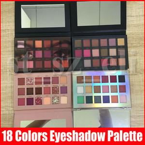 Nuovo dell'occhio di bellezza Makeup palette 18 colori della gamma di colori opaca di luccichio degli occhi Rose ombra PALETES 5 stili
