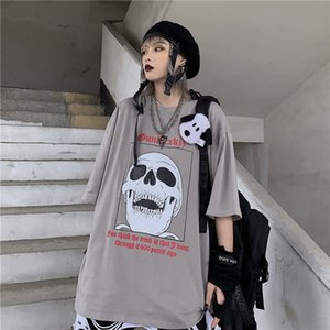 NiceMix adulti Graphic Distressed Vintage T-shirt donna estate O-Collo Hipster Tops Top Tee Tee Shirt casual manica corta Top