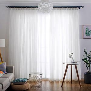 Bianco trasparente Tulle tende per il salone da letto Cucina Breve Piccolo Voile Sheer tende della finestra moderna Trattamenti Drape