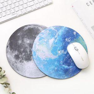 Serie Mat Planet 220 x 220 x 3 mm circular alfombrilla de ratón con el estilo de la Tierra / Venus / Marte / Mercurio / Júpiter / Plutón / Rainbow luna / Luna Negro