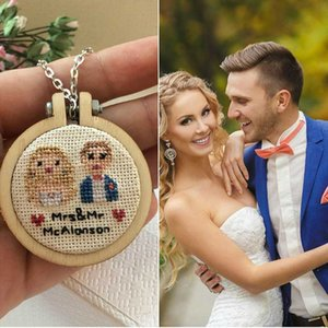 Wooden Embroidery Frame Small Hand Stitching Hoop Mini Embroidery Hoop Cross Framing Wood Earring DIY Gift