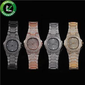 Lüks İzle buzlu out elmas erkek tasarımcı saatler hip hop takı kadınlar moda pandora stil charms rapçi bling rhinestone kol