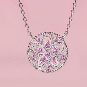 Kadınlar için takı S925 gümüş kolye kiraz çiçekleri kolye kolye gerdanlık sıcak moda wholesaele