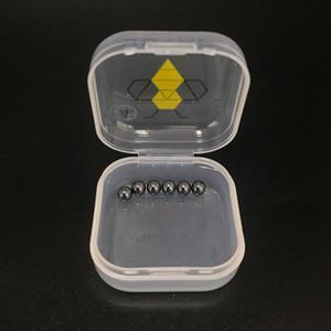 6pcs / Paquet de 4 mm 6 mm Perles mini-Terp Sic Sic insert en carbure de silicium pour billes quartz Banger Domeless Nails bong plate-forme pétrolière de pétards épais
