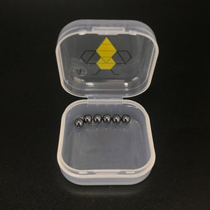 6pcs / pack 4 millimetri 6 millimetri Sic Terp Perle mini Sic inserto in silicone a sfera in metallo duro per Quartz Banger Domeless Nails bangers spesse piattaforma petrolifera bong