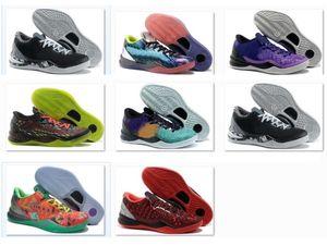 Satış deadstock İndirim Sneaker için Yılan Filipinler TB Black Mamba 8 Basketbol Ayakkabı Paskalya Noel 2012 Prelude Yansıma Yıl