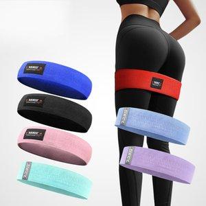 Spor Yoga Direnç Band Döngü Tok Renk Antisilip Elastik Spor Çekme Halat M L XL Büyüklüğü 10 5al3 E19 Eğitim Bantları Assist
