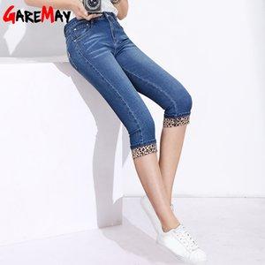 Garemay donne Skinny leopardo Capris Jeans femminile signore Stretch Jeans Capri knee-lunghezza Estate Leopard Print Woman 2019