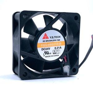 Pour Inverter ventilateur Marque New FD246025EB 60 * 60 * 25 mm DC12V 0.21A 2 fils