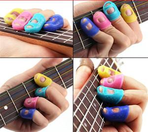 Silicone Guitar Finger Sleeve Finger Thumb Skins Guitar Finger Protectors Utile per chitarra acustica Principiante Altre corde Strumento PR