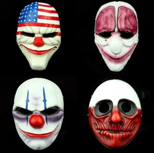 Horror Clown Masks Payday 2 Halloween Horrible Scary Mask for Masquerade Party Mascara Carnaval Halloween Theme Party