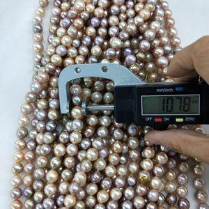 10mm metallic luster multicolor off round edison pearl strands ripple pearls