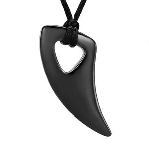 IJD12834 noir Elephant dents de conception de polissage Hommes Femmes bijoux collier pendentif Crémation en acier inoxydable pour être cher Ashes
