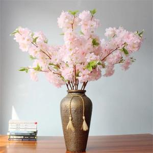 """Falso stelo singolo ramo di ciliegio 39.37"""" Simulazione Primavera Fiore di ciliegio Sakura Trees staminali per casa di cerimonia nuziale decorative Fiori Artificiali"""