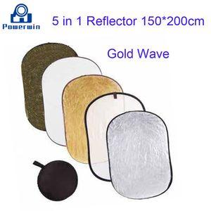 Powerwin 5 в 1 Sunfire волна золото серебро белый черный отражатель 150x200 см складной диск фотостудия освещение диффузор софтбокс фон