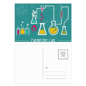 Chemical Reaction Tool Chemistry Postcard Set Birthday Thanks Card Mailing Side 20pcs