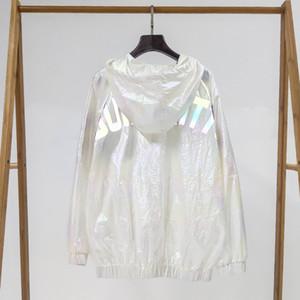 Super Bunte reflektierendes Logo Trenchcoat Damenmode-Mantel Brand Design Trench Coats 2019Spring Herbst Luxus Coats.B100718Y