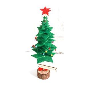 2019 Plastic Xmas Tree Artificial Natal decorada Green Tree 35 centímetros Ano Novo Início Ornamentos Ambiente de Trabalho Árvore de Natal Decoração