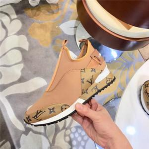 22ss mais nova marca de couro genuíno das mulheres dos homens sapatos de lazer dobrar Shoes condução Sneakers Moda Casual Shoes formadores de várias cores 37