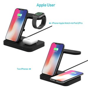 3 in 1 Qi 15W Fast Charger Dock Wireless Quick Charging Station for Apple TWS Airpods 2 Pro iPhone iWatch Samsung Huawei Xiaomi