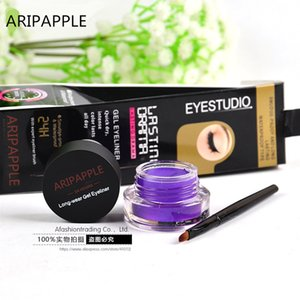 1pc Lila Eyeliner wasserdichte Creme mit Make-up Pinsel Comestics Eye Liner Creme Pen Beauty Essentials-Makeup Gel Glitter