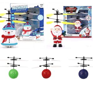 Christmas Obstacles Avoid Intelligent Flying Sensitive Cute RC Drone santa Claus Snowman Crystal Ball Aircraft Dazzling Helicopter LA223