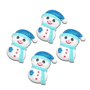 LF 10Pcs Christmas Snowman Resin Decoration Craft Flatback Cabochon Embellishments For Scrapbooking Kawaii Cute Diy Accessories Other Decora
