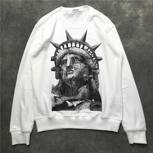 19ss فرنسا إيطاليا حار جديد الموضة في باريس تمثال الحرية الرجال القطن الطباعة تي شيرت النساء الرجال هوديس بلوزات 208