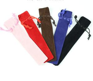 Velvet Pen Pouch Holder Einzelbleistiftbeutel Federtasche Rope Locking Gift Bag