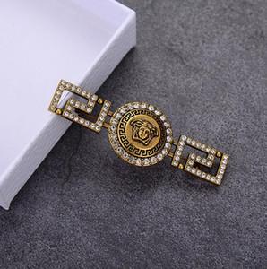 Europeus e americanos personalizado cabeça broche americano set cabeça bonita com broche de diamante moda vintage é um vendedor quente