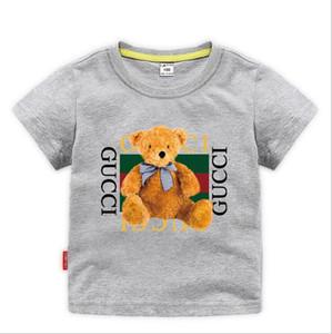 TRGU nova marca designer marca 2-8 T anos de idade Do Bebê meninos meninas T-shirt camisa de verão Tops de algodão crianças Tees crianças Roupas 2 cores