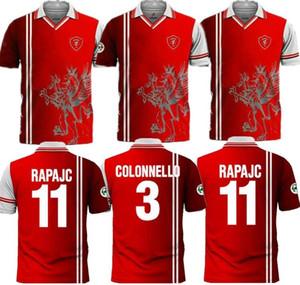1998 1999 بيروجيا الرجعية لكرة القدم جيرسي 98 99 Associazione Calcistica بيروجيا كالتشيو NAKATA RAPAJC PETRACHI خمر قميص كرة القدم الكلاسيكية