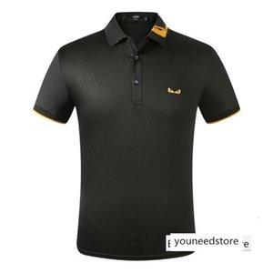 19SS Luxurious Italy brand Design sleeve Crewneck Sweater Sweatshirt Fashion Pullover Fendi Polo T-shirt 01
