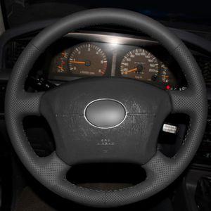 Top volante de cuero Mano-puntada en la cubierta del abrigo para Toyota Land Cruiser Prado 120 Lexus LS400 1995 GX GX470 2004-2009