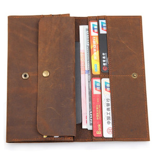 Designer-mens wallets mens leather wallet long casual cow genuine leather purse and multi credit passport card holders wallet zipper