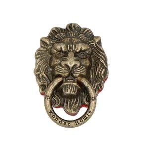 Lion Head - Soporte rotativo de 90 grados para el anillo del dedo del teléfono