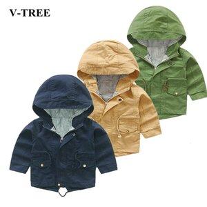 V-TREE весна осень куртка для девочки Мультяшные мальчики пальто Hoody детей Верхняя одежда Детское Ветровка MX191030