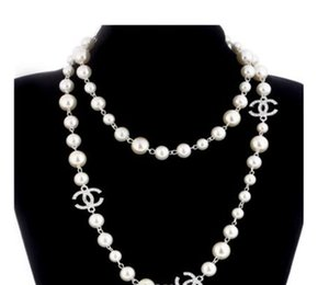 2020 NEW Women Fashion Necklace Natural Pearl Necklace Sweater Multilayer Diamond Necklace Import Crystal Brooch Bridal Jewelry Jewelry