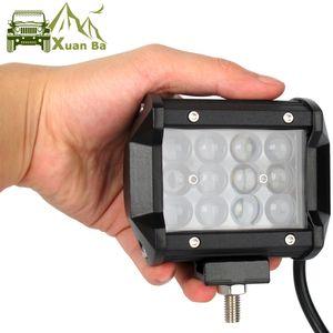 XuanBa 4D lente do projetor 7 '' 12 '' 17 '' 20 polegadas Led Light Bar para o caminhão Tratores Motocicleta Barco ATV SUV ponto do feixe de trabalho Luzes Focos