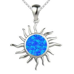 10 PC al por mayor plateado plata colgante Sun muchos colores Opalite collar de ópalo para la joyería del regalo del aniversario