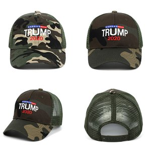 Donald Trump 2020 Cap Camouflage Baseball Caps 3D Embroidery Letter Outdoor Sports Sun Hat Party Hats DA491