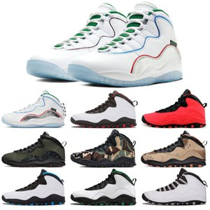 Neue Ankunfts-Vorrat X 10 10s Flügel Männer Basketball-Schuhe Chicago Cool Gray Cement Steel Grey Westbrook Trainer Männer Sport-Turnschuhe