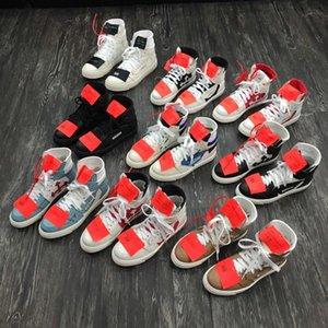 Kadınlar Tuval Günlük Ayakkabılar Eğitmenler Boyutu 38-45 kapalı Yeni Vulc spor ayakkabısıyla Virgil Süet Erkek Ayakkabı platformu Vulcs Siyah Beyaz Moda