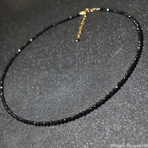 Imitation cristal noir perles Colliers ras du cou pour femmes simples bijoux de mode femmes Déclaration Collier court Bijoux Mesdames Bijoux Party