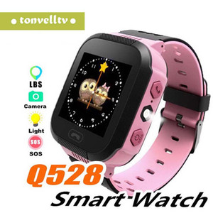 Touch Screen Q528 GPS Tracker Boy Girl Watch Anti-lost Children Kids Smart watch LBS Tracker Wrist Watchs SOS Call For Android IOS P-BS