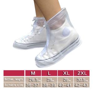 1pair Su geçirmez EVA Ayakkabı Kadın Erkek 36-43 Boyutu Protector Unisex Kaymaz Fermuar Shoecover Yeniden kullanılabilir Yağmur Kapak Kılıfları