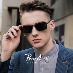 Pro Acme 2020 New Sunglasses Men Polarized Square Metal Frame Male Sun Glasses Driving Fishing Eyewear zonnebril heren PA1323 Y200619