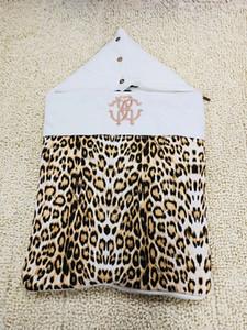 العلامة التجارية الجديدة طفلة كيس النوم بطانية دافئة ليوبارد طباعة الوليد سبات حقيبة عالية الجودة شحن مجاني
