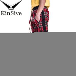 Pantalones Hombre corredores de Calle Zipper de diseño pantalones largos Hip Hop tartán Hombre Pantalones Pantalones deportivos de alta calidad cada día de hombres